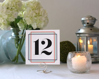 Colorful Wedding Table Number Marker Square Frames