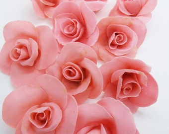 Miniature Roses Polymer Clay Flowers & Beads Supplies 40 pcs