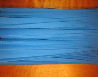 "Vintage Pykettes Blue Flare Skirt. Measures 16"".  early 80s"