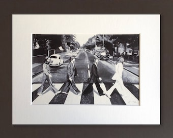ABBEY ROAD wall art - giclee print of 'Abbey Road' acrylic painting by Stephen Mahoney - Beatles artwork painted and printed in Liverpool