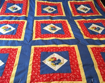 Kansas University Jayhawk KU Quilt- order your now