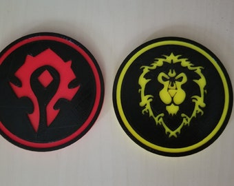 World of Warcraft 3D printed Coasters
