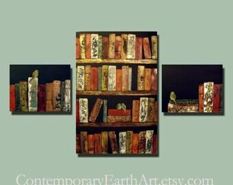 Contemporary Birds & Books Painting ( 56 x 36 ) Custom Large Smart Wall Art
