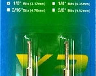 """1/8"""" Diamond Core Drill bits-Set of Two-Twofer Drill bits-Diamond Drill bits-Drill Bits"""