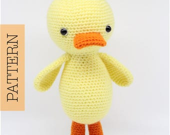 Crochet Amigurumi Duck PATTERN ONLY, Quigley The Duck, pdf Stuffed Animal Toy Pattern, English Only
