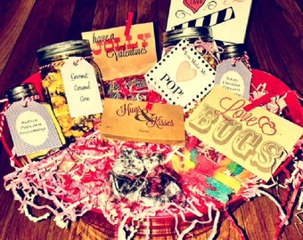 Movie gift basket etsy moviedate night valentines day gift basket great gift for himher negle