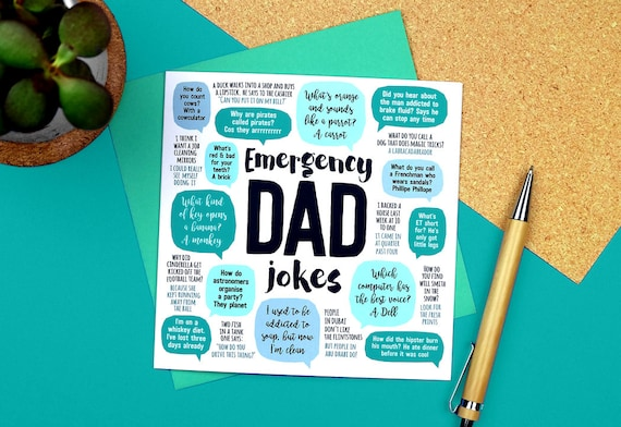 Emergency dad jokes card dad birthday card funny birthday m4hsunfo