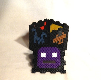 Five Nights at Freddy's Perler Bead 8 Bit Bank box