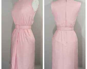 1950s Pink Wiggle Dress by Miss Brooks New York // 50s Pink Dress