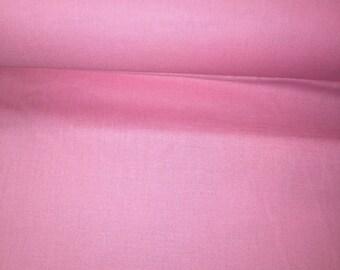 Pink plain 100% cotton fabric