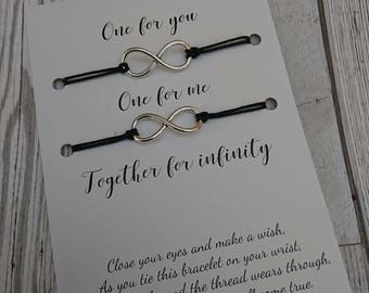Infinity symbol love bracelet set
