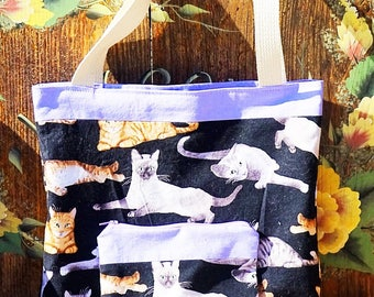Kitty Tote Bag with Matching Zipper Pouch