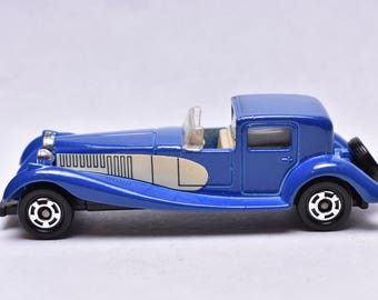 Vintage Tomica No.F46 Bugatti Coupe De Ville, 1978, made in Japan, by Tomy, Miniature Die-cast Toy Car,