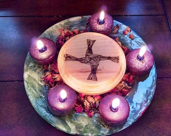 Brigid's Cross and Candle Wheel Imbolc Candlemas Rites and Celebrations