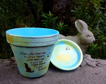 Pet Memorial Gifts - Painted Flower Pots - Dog Memorial - Cat Memorial - Pet Sympathy Gifts