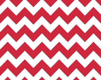 Riley Blake Designs Medium Chevron Red C320-80 One Yard