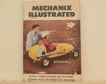 Mechanix Illustrated Magazine, September 1953 - Great Condition, Tips,  Science, Technology, Hundreds of Vintage Ads, Our Weather and A-Bomb