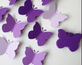 50 assorted paper butterflies/ butterflies confetti/ wedding butterflies confetti / table decoration/ whishing tag/ gift tag/ birthday/ baby