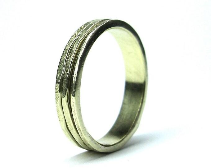 10K Yellow Gold Three Band Spinning Ring