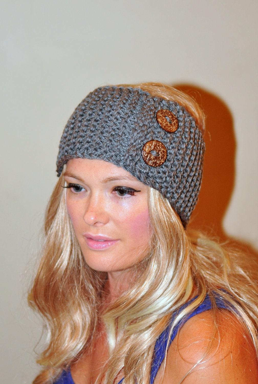 Earwarmer buttons head wrap wool crochet headband ear warmer zoom bankloansurffo Gallery