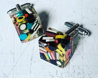 Sweetly Unique...........................LIQUORICE ALLSORTS CUFFLINKS