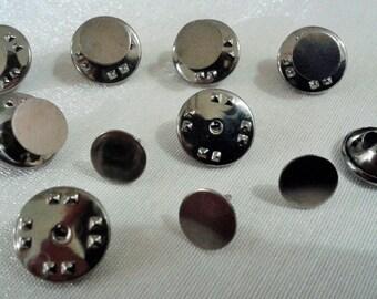 20 Pcs 8 mm Gunmetal  Color Tie Tack Blanks Pin Findings