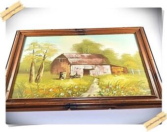 Barn Oil Painting