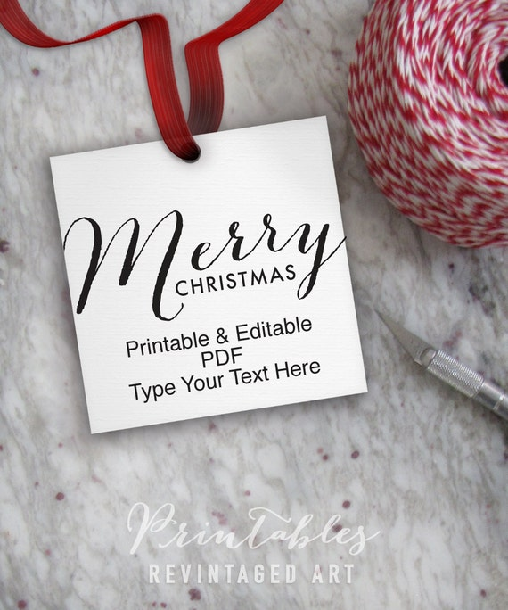 Printable christmas tags editable merry christmas tag template printable christmas tags editable merry christmas tag template diy digital pdf 2 square 2x2 holiday gift tag treat tag candy tag from solutioingenieria Choice Image