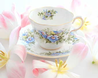 TEA CUP, Vintage, English Fine Bone China by Rosina, Wild Flowers Pattern, High Tea Party, Gifts for Her, Replacement China
