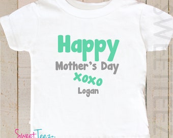 Happy Mother's Day Kids Shirt Baby Bodysuit Personalized