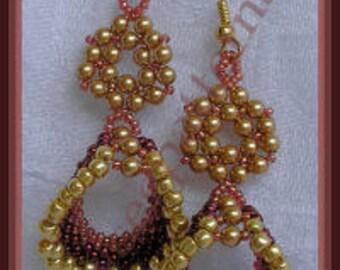 Bead Tutorial - Noel Earrings - Triangle Weave