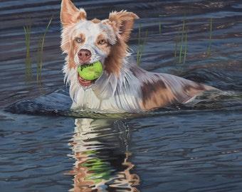Portrait animalier personnalisé + complexe de fond 12 x 12