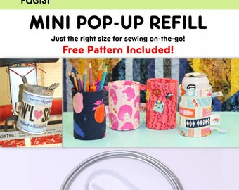 Pop Up Refill (Mini) Fabric Container, Can Cozy, Scrap Basket, Pencil Holder, Pop Up - Fat Quarter Gypsy By  Joanne Hillestad  - DIY Project