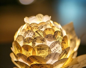 Sheet Music Paper Flower Centerpiece