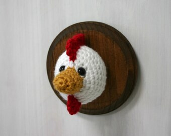 Crochet Taxidermy Chicken or Rooster