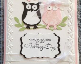 Owl themed wedding card