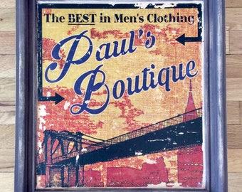 ASK FOR JANICE - Beastie Boys, Paul's Boutique - Gel medium transfer on wood - Framed wall art