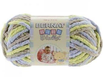 Bernat Baby Blanket Yarn Little Boy Dove Soft Baby's Blanket Yarn Fast Working Yarn