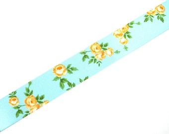 Ribbon 25mm X 50 cm wide floral print