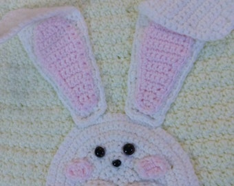 Made to Order Cute Easter Bunny Dress for a Little Girl Sizes 12 months to girl's 6