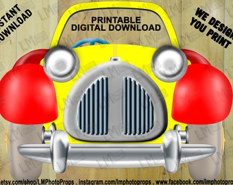 Noddy in Toyland Prop, Noddy Inspired Prop, Toyland, Windup Car, Toy Car Prop, Noddy Party Photobooth, DIY, INSTANT DOWNLOAD, printable