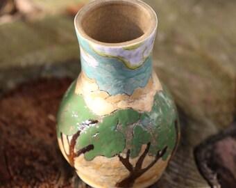Stoneware Pottery Vase - decorative Bud Vase - Reed Diffuser