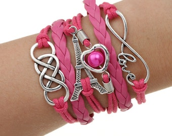 Love Eiffel Tower Bracelet