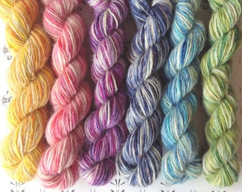 """The flower festival no1 - """"Once upon a time"""" collection of handspun yarns"""