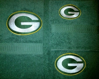 Green Bay Packers Embroidered 3 Piece Green Towel Set