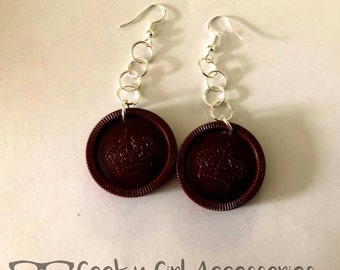 Checkers Board Game Piece Earrings - 2 Colors