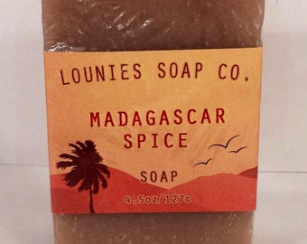 Madagascar Spice Soap | Body Soap | Hand Soap | Deodorrizing | Spiced | Unisex | Gift |