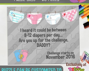 Dad Personalized Pregnancy Announcement Puzzle - Pregnancy Announcement Puzzle - Funny Pregnancy Announcement - Daddy to be announcement