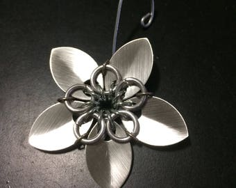 Silver Flower Ornament