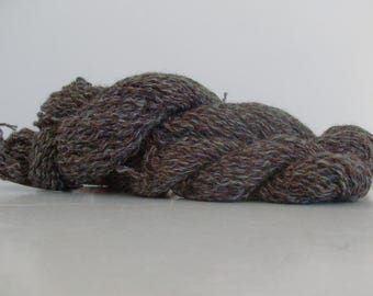 Handspun Wool Yarn, Shetland/Cotswold blend, Natural and Dyed colour, Multiple skeins